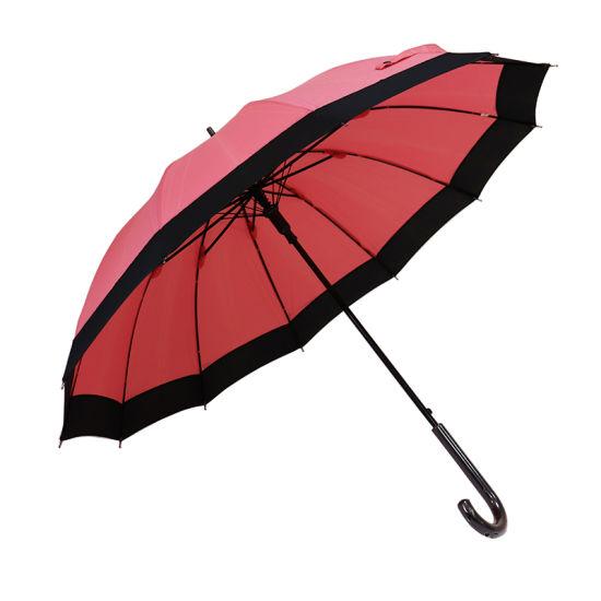 Japan Style 21 Inch 12 Rib Straight Auto Open Umbrella (YZ-19-50)