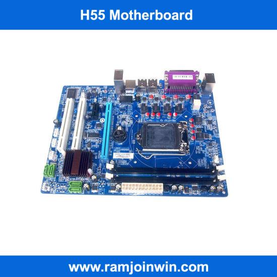 China ATX Type H55 Express Chip LGA1156 Desktop Motherboard - China