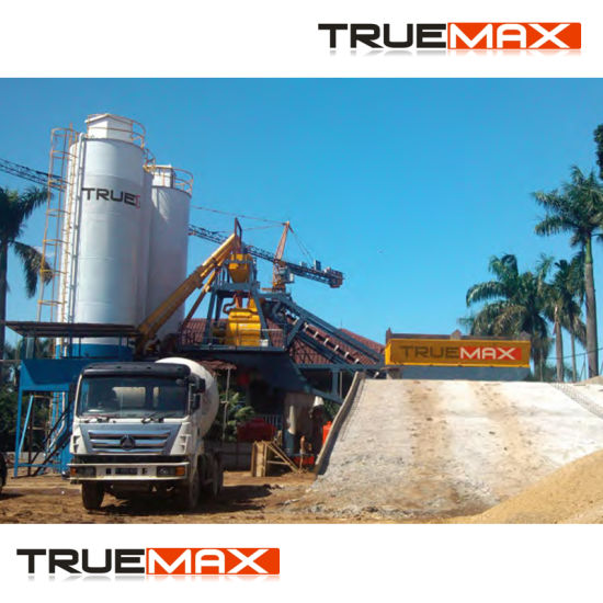 High Quality Production Capacity Belt Type Mobile Concrete Plant 60m3 pictures & photos
