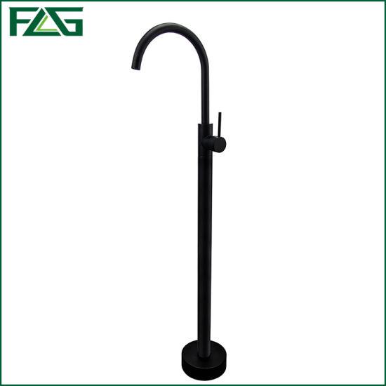Flg Freestanding Bathtub Bathroom Floor Standing Shower Faucet