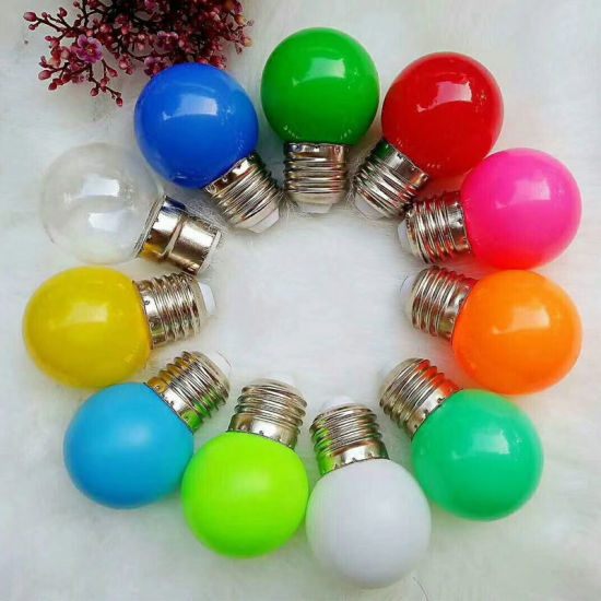 G45 E27 or B22 1W Color LED Bulb for Holiday Decoration pictures & photos