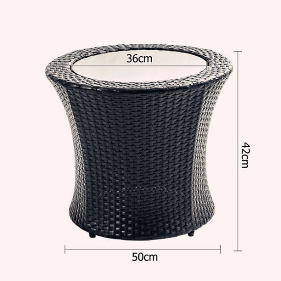 4 PCS Outdoor Black Rattan Stackable Patio Furniture pictures & photos