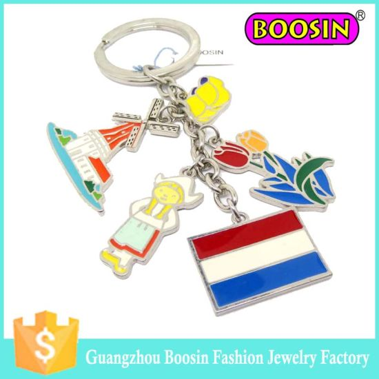 Fashion Custom Enamel Country Metal Italy Jewelry Flag Charm pictures & photos