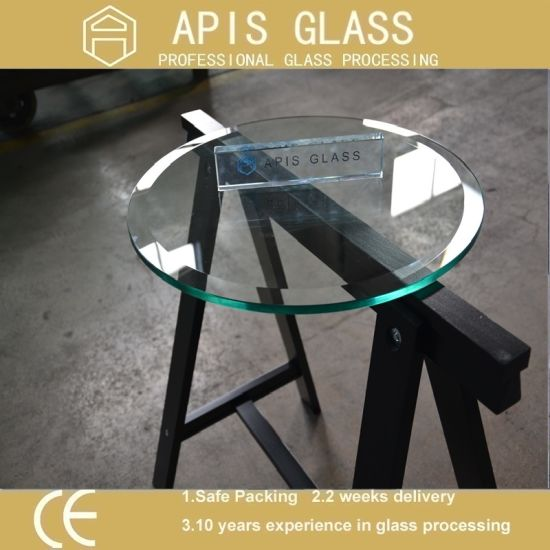 China Best Round Beveled Edge Clear Float Tempered Coffee Table Top Glass  Wholesale