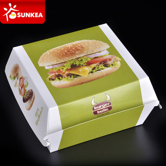Custom Design Printed Paper Hamburger Package pictures & photos
