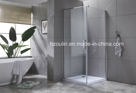 China 8mm Glass Shower Enclosure With One Fixed Glass And One