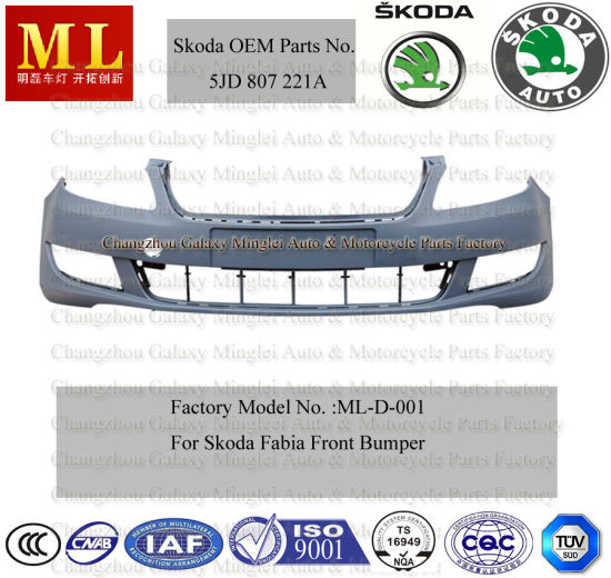 Front Auto Bumper for Skoda Fabia From 2007 (1J0 807 221D)