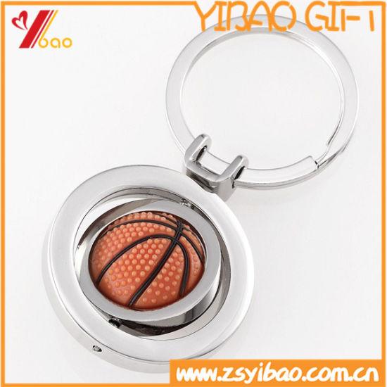 Custom 3D Design Metal Keychain with Rotatable (YB-LY-K-24)