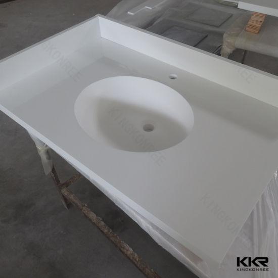 Solid Surface Bathroom Vanity Top With Undermount Sink