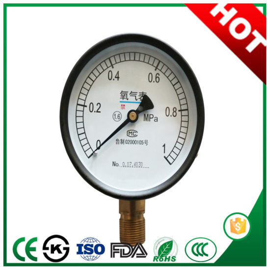 Novel Type Gas Pressure Gauge with Top Quality