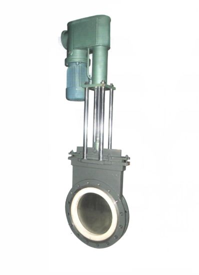 Electric-Hydraulic Short Type Wafer Ceramic Slurry Knife Gate Valve (GPZ273TC) pictures & photos