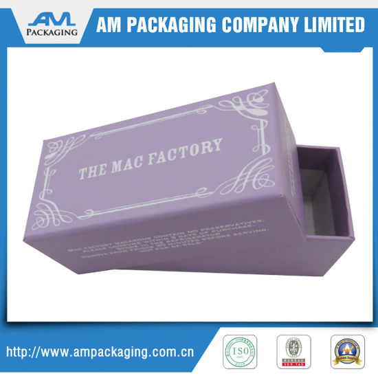 Custom Chocolate Macaron Packaging Box with Inlay Two Flap Paper Box pictures & photos