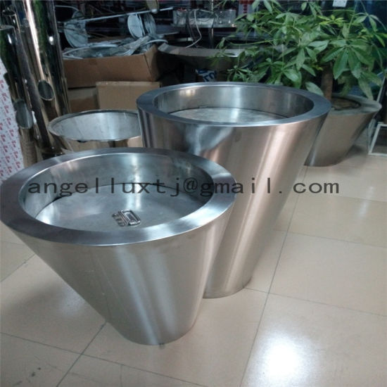 Party Wedding Decorations Stainless Steel Planter Flowerpot Oval Square Bowl Round Different Shape pictures & photos