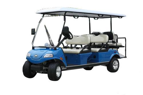 Electric Utility Golf Cart 4+2seat Blue Del2042D2z