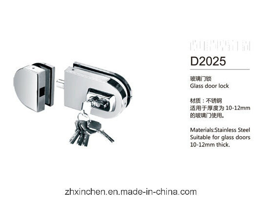 Xc-D2025 High Quality Glass Door Lock pictures & photos