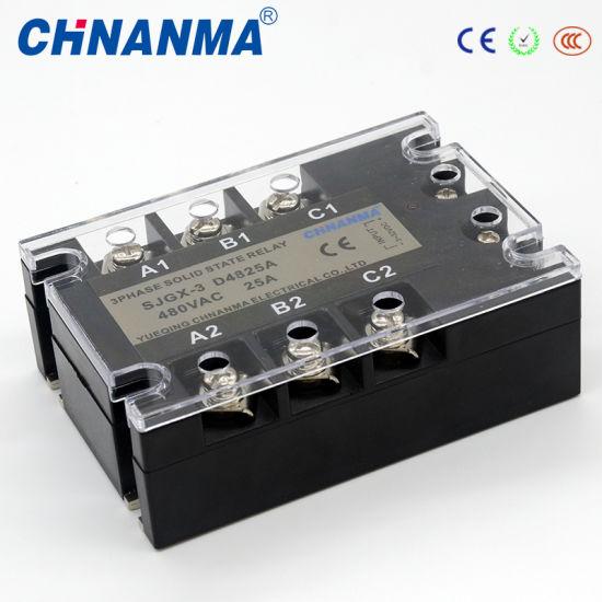 80AMP AC90-250V, 440V SSR Three Phase 12V Solid State Relay
