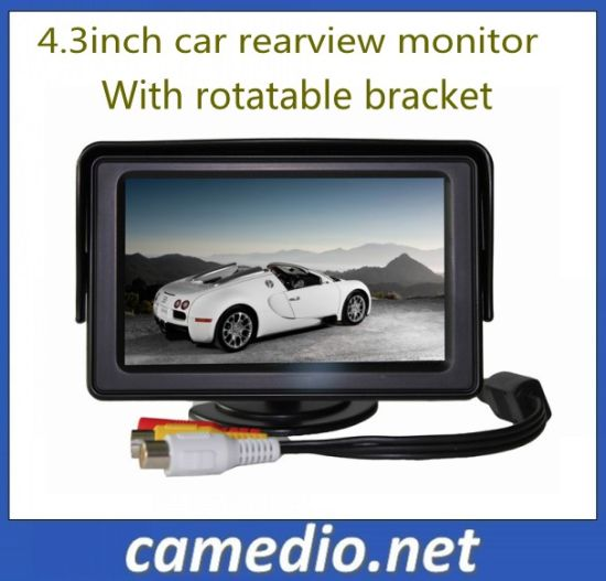 4.3inch Car TFT LCD Monitor with Digital Screen 480*272 with Rotatable Bracket pictures & photos