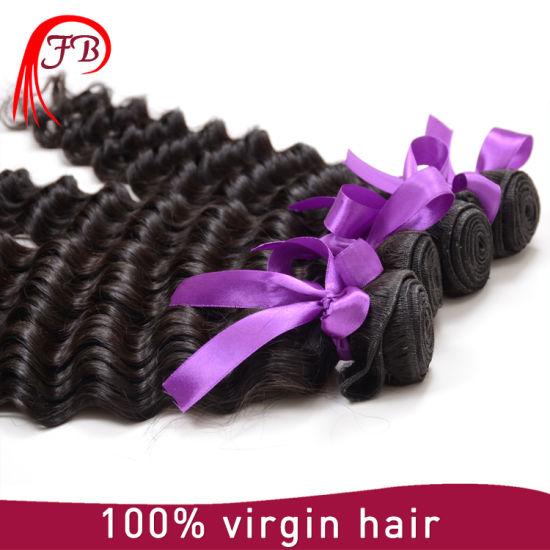 7A Grade 100% Mongolian Deep Wave Human Hair Weaving