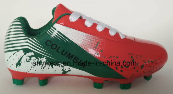 Children Sports Footwear Outdoor Soccer Football Shoes (627)
