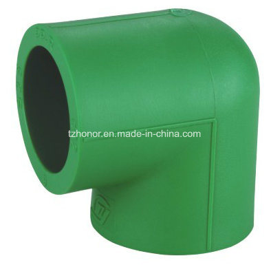 PPR 90 Degree Equal Elbow Cold and Hot Water Supply Pressure Pipe Fittings DIN 8078/8077 (R05A)