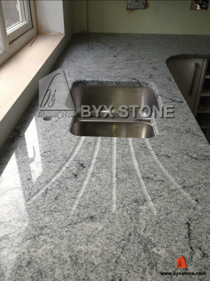 Viscount White Granite Kitchen and Bathroom Countertops for Hotel