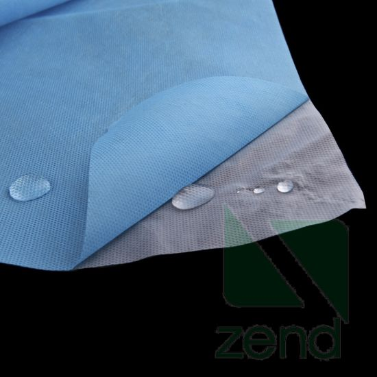 Two-Layer Laminated Hydrophilic PE Coated PP Spunbond Non-Woven Fabric pictures & photos