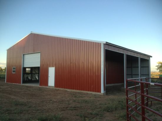 Easy and Fast Assemble Metal Structure Shed