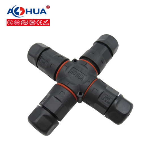 2pin M20 Four-Way Waterproof Cable Connector IP67