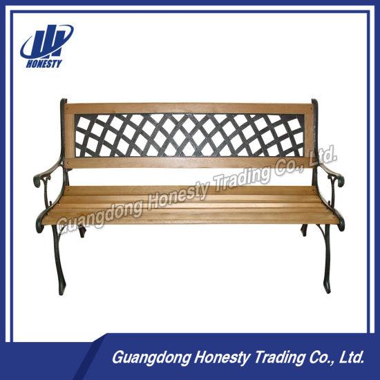 Hb1008 Outdoor Garden Cast Iron Wood Bench