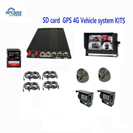 12V Car CCTV DVR System with GPS Tracking 3G WiFi GPRS GPS Mobile DVR