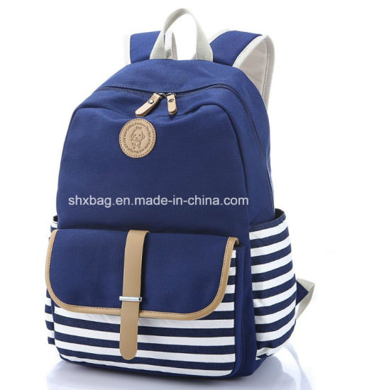 Fashionable Canvas Laptop Cute School Backpack College Bookbag