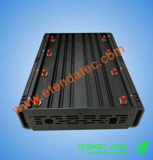 10watts 8 Band Powerful Cellphone Mobile Phone GPS GSM WiFi Signal Signal Jammer/Blocker /Interceptor/Isolator