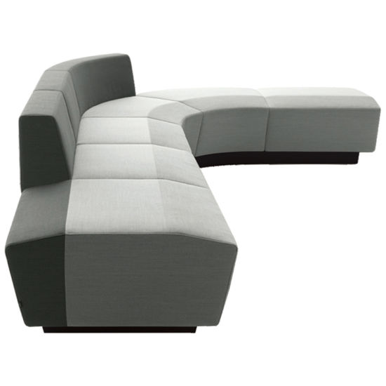 Molding Foam Leisure Sofa Seating/Round Office Bench/Waiting Bench for Public Area with Modular Section