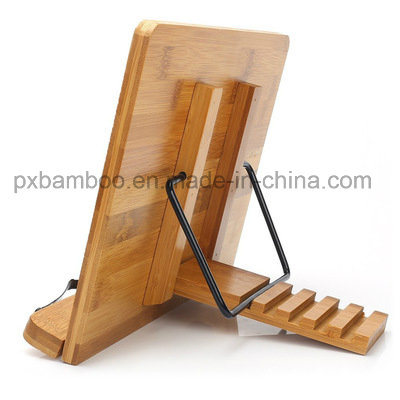 Portable and Foldable Bamboo Book Stand for Tabletop Book Display and iPad Holder pictures & photos