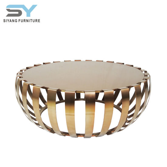 China Living Room Furniture Modern Glass Coffee Table Factory Side