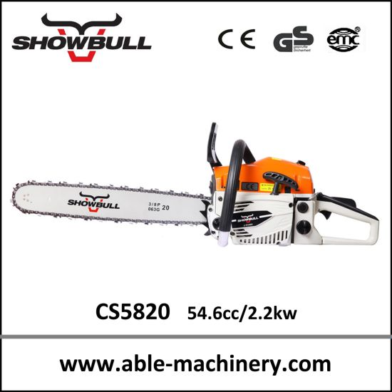 Orange Gasoline Chainsaw CS5820 with Displacement 58cc pictures & photos