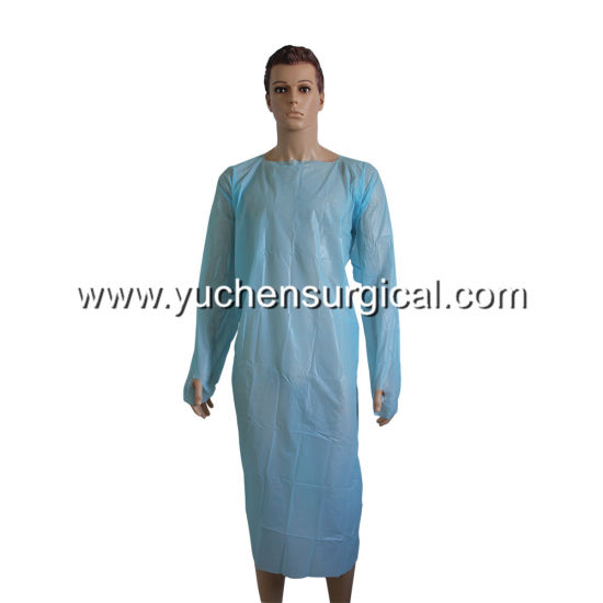 Thumb Hooks CPE Protection Gown for Medical or Food Industries