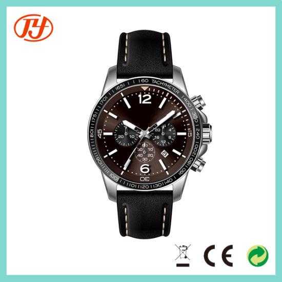 Wholesale Luxury Waterproof Fashion Sport Male Leather Wristwatch