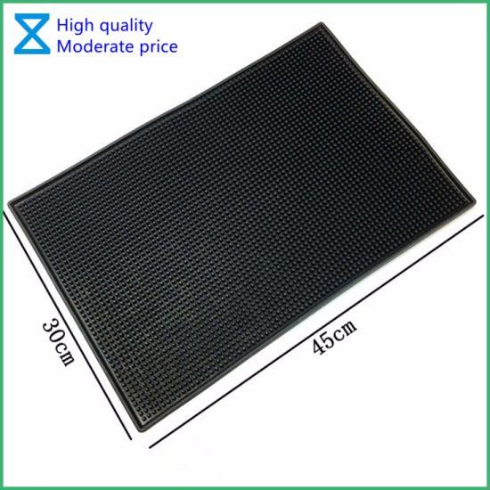 China Hot Selling Customize Logo Soft PVC Bar Mat for Bar