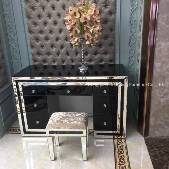 Accent Black White Mirrored Dresser