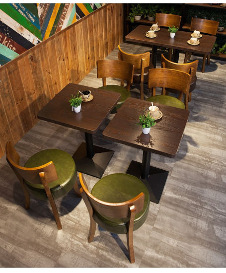 Commercial Metal Wood Coffee Dining Table Chair Wholesale Restaurant Furniture
