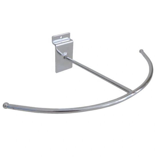 "25 Black 6/"" Slatwall Peg Metal Hooks Slat Wall Display 6mm Diameter Tubing"