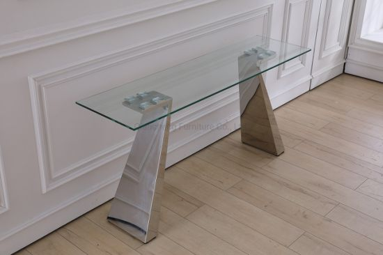 Hot Sale Modern Style Tempered Glass Console Table Living Room Furniture