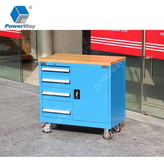 Movable Metal Storage Drawer Workbench Tool Chest Roller Cabinet