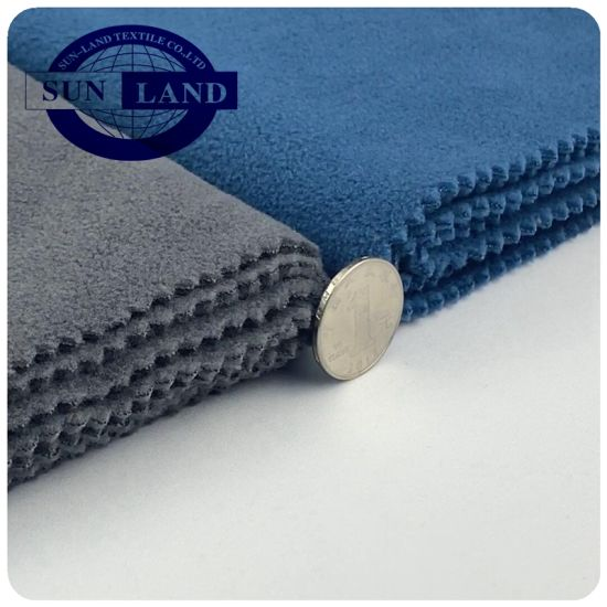 100% Polyester Micro Anti Pilling Warm Polar Fleece Two Side Brushed for Winter Clothing Fabric