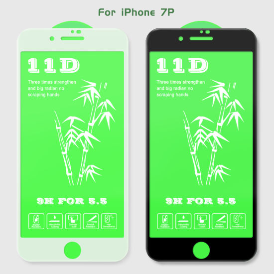 11d Bamboo Tempered Glass Screen Protector for iPhone 6/6p/7/7p/8/8p/X/Xr/Xs/Xs Max
