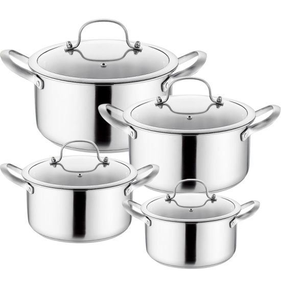 4 Pieces Stainless Steel Cookware Set (soup pot)