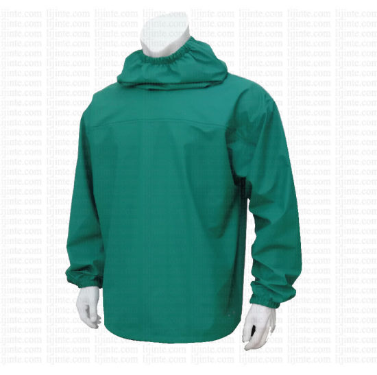 Outdoor Clothes Pullover PU Rain Jacket
