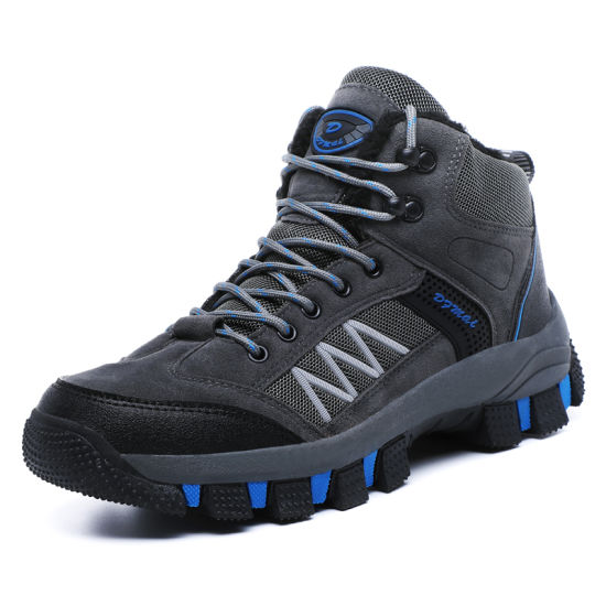 Winter Cotton Padded Tactical Hiking Boots Leather Waterproof Hiking Shoes