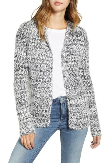 Ladies Mohair Free Size Loose Fashion Handmade Cardigan Sweater